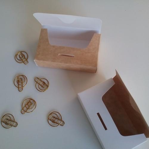 caja de cartulina para tarjetas personales 10x6x3 pack x10
