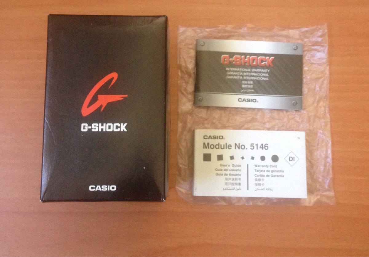 caja de casio g-shock con manual de usuario y garantía. Cargando zoom.