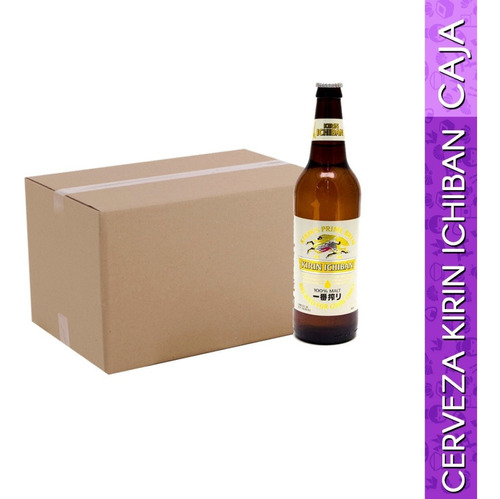 caja de cerveza kirin ichiban 650 ml c/15 piezas