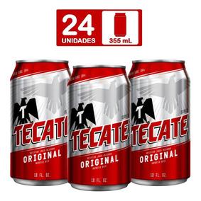 15a9840a42a Caja De Cerveza Tecate Roja Six Lata (4 Six Pack)
