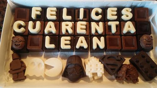 caja de chocolates personalizada chocomensaje star wars lego