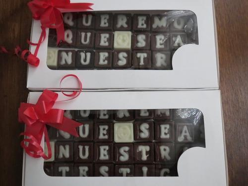 caja de chocolates personalizadas con frases