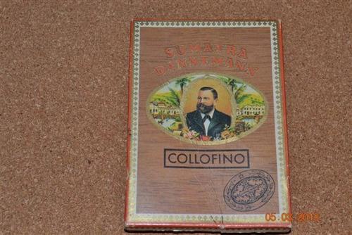 caja de cigarron sumatra daneman collofino - antiguo