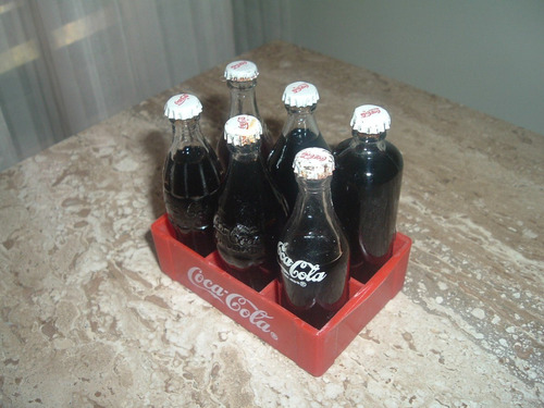 caja de cocacola  miniatura