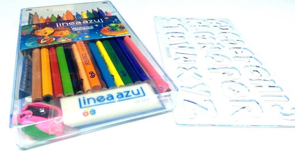 Caja De Colores Linea Azul, 12 Piezas *6 Unidades, Unipunta ...