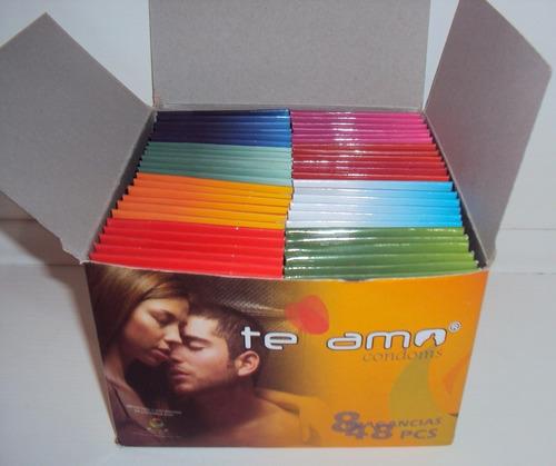 caja de condones preservativos te amo por  144 unidades