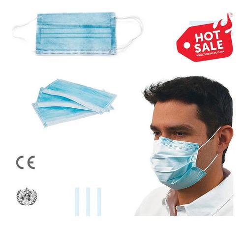 caja de cubrebocas tricapa 50 pzas, sellados y sanitizados