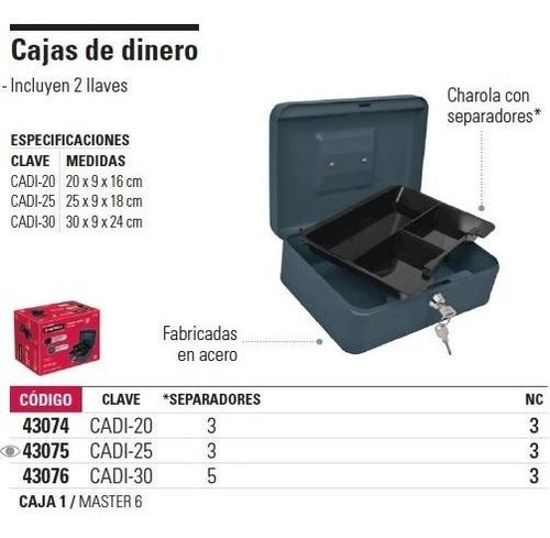 caja de dinero 3 separadores 30 x 9 x 24 cm hermex 43076