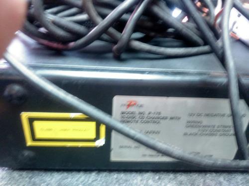 caja de discos 10 cd audiovox japón funciona old school 1992