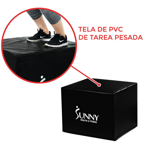 caja de entrenamiento pliométrico sunny health & fitness 072