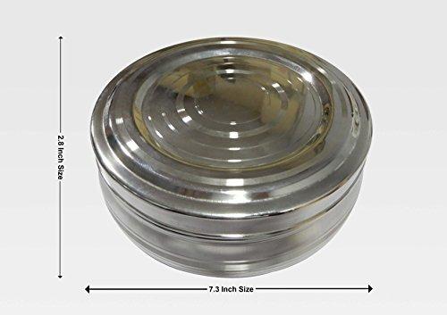 7 Compartimentos con 2 cucharadas Masala Dabba Contenedor de Especias WhopperIndia Caja de Especias Redonda de Acero Inoxidable Cocina Masala Dabba herm/ético