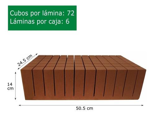 caja de espuma agrícola ultrafoam 4x4x14 (432 cubos)