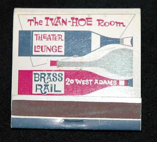 caja de  fosforos    brass rail theater lounge   made in usa