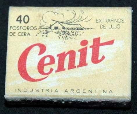 caja de fosforos           cenit         industria argentina