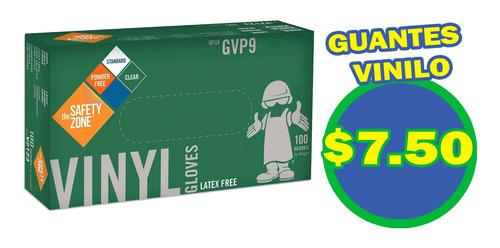 caja de guantes de vinilo $7,50, nitrilo $12 importado