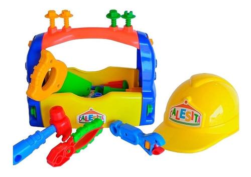 caja de herramientas calesita con casco niño nene original