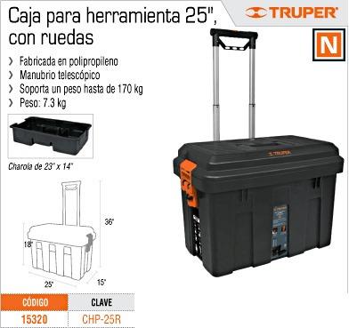 Caja de herramientas con ruedas truper en - Caja herramientas con ruedas ...