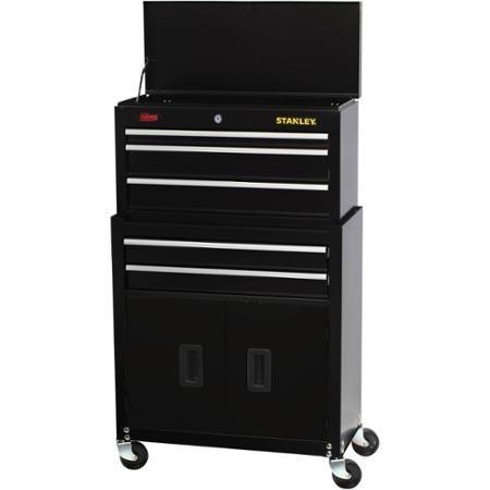 Caja de herramientas met lica negra stanley con ruedas - Caja de herramientas stanley ...