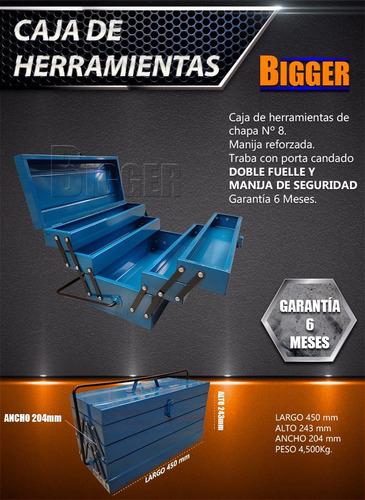 caja de herramientas metalica reforzada nª8 fuelle doble .