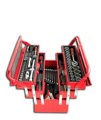 caja de herramientas metálica udovo 85 piezas ju851412