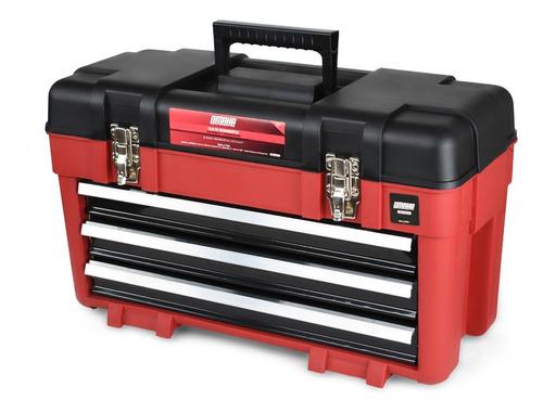 caja de herramientas plástica 23'' omaha + 3 bandejas