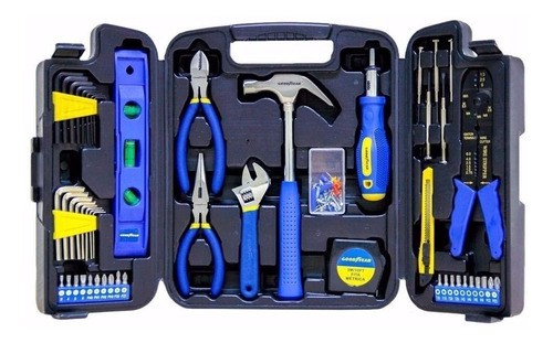 caja de herramientas set goodyear 129 piezas maletin pintumm