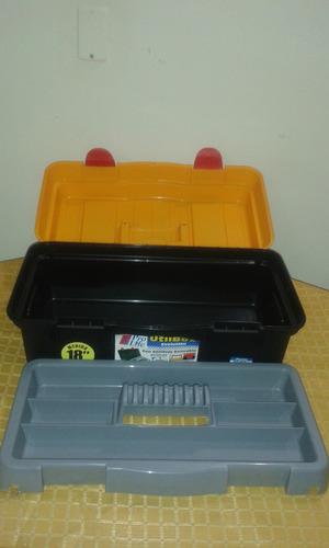 caja de herramientas utilbox con bandeja, marca prolife 18
