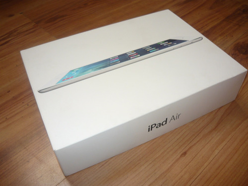 caja de ipad air wi-fi silver 128gb