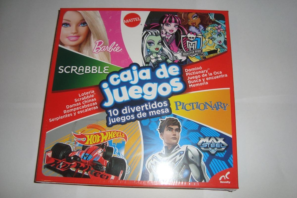 Caja De Juegos 10 Juegos De Mesa Scrabble Domino Pictionary