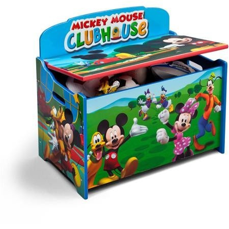 Caja de juguetes baul juguetero mickey mouse de disney nb - Muebles de mickey mouse ...