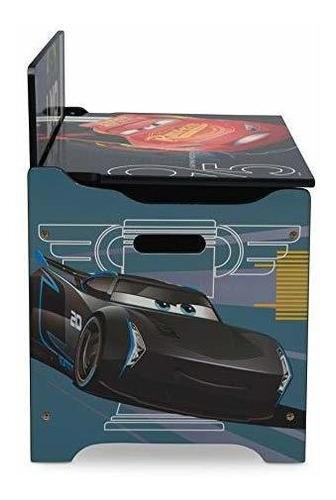 caja de juguetes delta children deluxe, disney / pixar cars