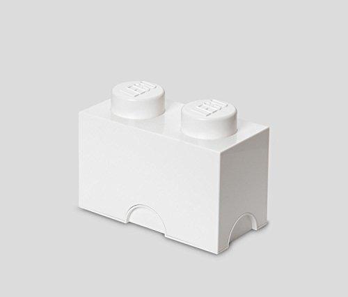 caja de juguetes lego almacenamiento ladrillo blanco 2 de l