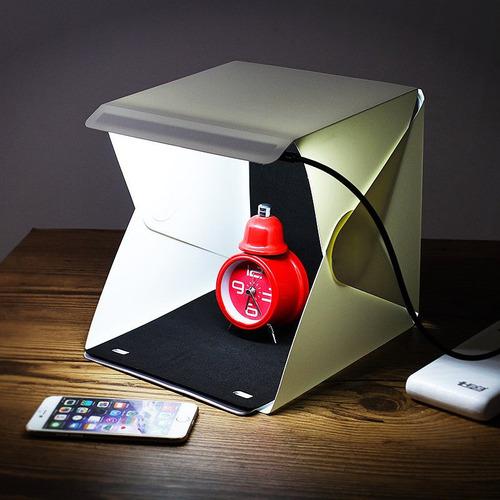 caja de luz 24 cms con leds para fotografia