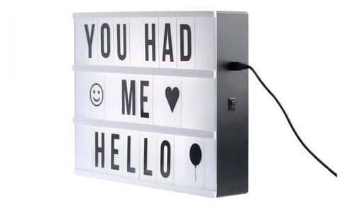 caja de luz letras emoji lightbox modelo a4 / hb importacion