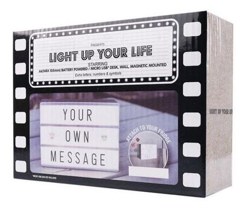 caja de luz lightbox a6 letrero decorativo usb magnetico aa