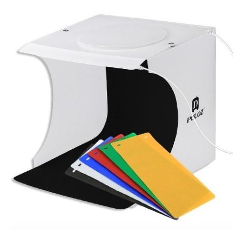caja de luz mini estudio fotográfico plegable 22 cms led