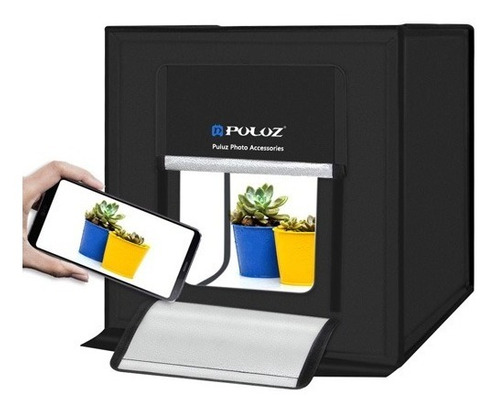 caja de luz mini estudio fotográfico plegable 40 cms led
