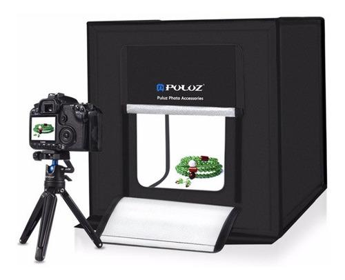 caja de luz mini estudio fotográfico plegable 80 cms led