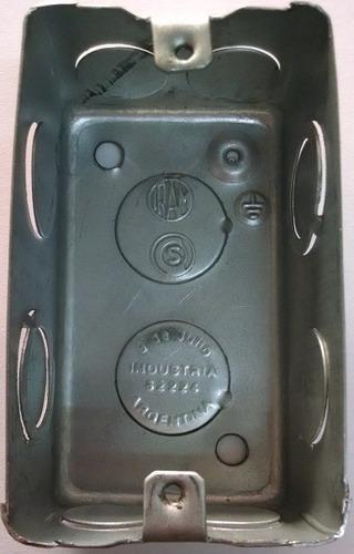 caja de luz rectangular 5x10 chapa zinc