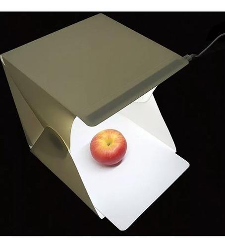 caja de luz studio softbox fotografia led camara flash plegable portatil incluye fondos