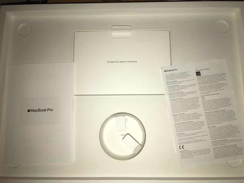 caja de macbook pro 16 pulgadas con bolsa original