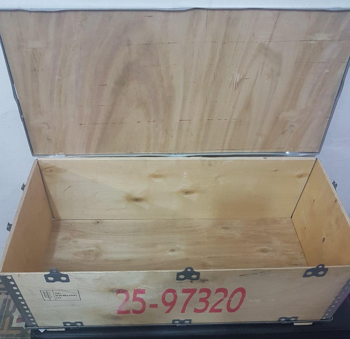 Caja de madera con tapa para almacenar bs for Caja madera con tapa