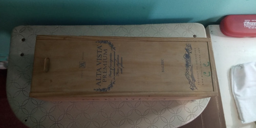 caja de madera de vino (vacía)