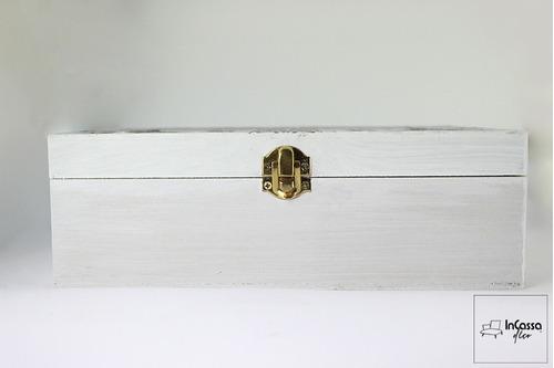 caja de madera moderna vintage para te mod. paris