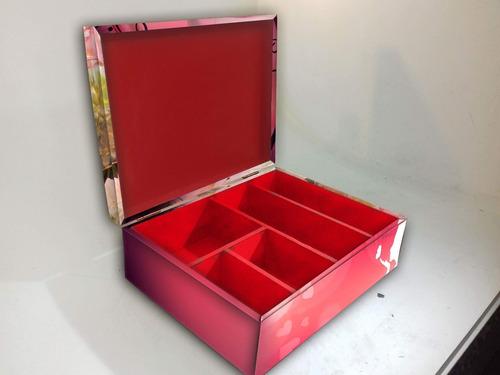 caja de madera multiuso femenina (3 divisiones)