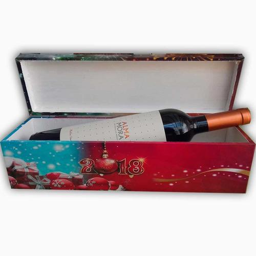 caja de madera personalizada con champagne chandon