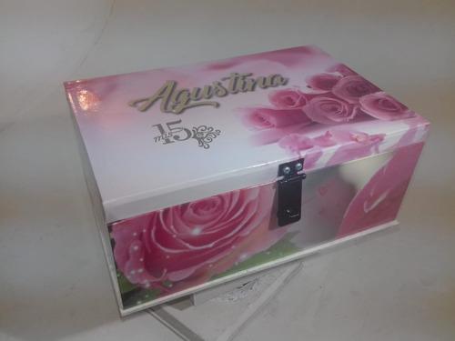 caja de madera personalizada premium