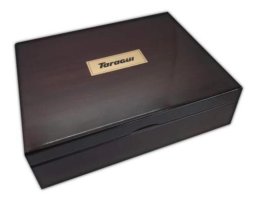 caja de madera té taragüi 12 divisiones (cofre)