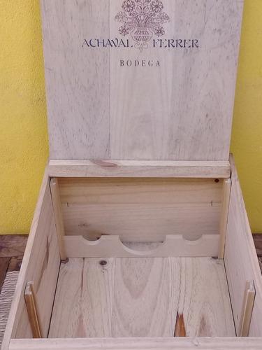 caja de madera vacía vino x 6 botellas