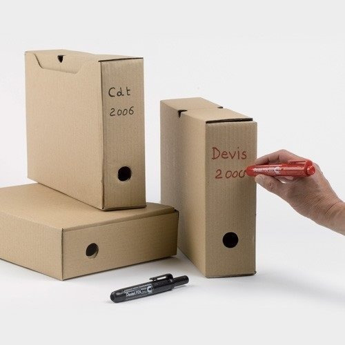 caja de marcadores pentel retráctil punta redonda azul 12uni